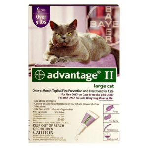 ADVANTAGE II CAT OVER 9 LB PURPLE 4/PK
