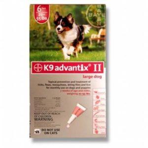 K-9 ADVANTIX II 21-55 LB RED 4PK