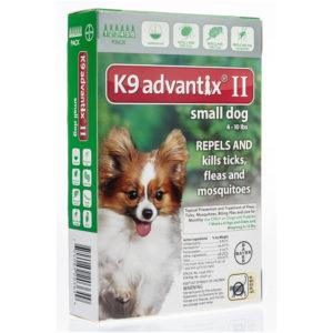 K9 ADVANTIX II 0-10 LB GREEN 4PK