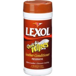 Lexol Leather Conditioner Quick Wipes Canister