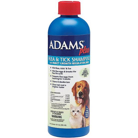 Adams Plus F&T Shampoo with Precor 12 oz.