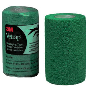3M VETRAP 4 IN X 5 YD/ROLL HUNTER GREEN