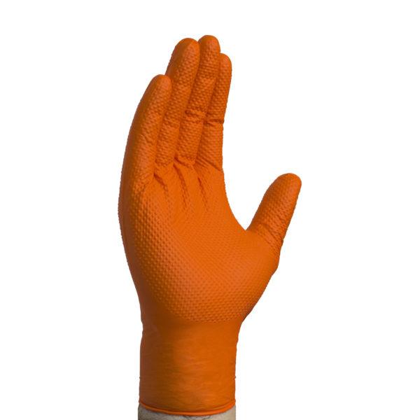 Gloveworks ORANGE Industrial Nitrile PF HD Med