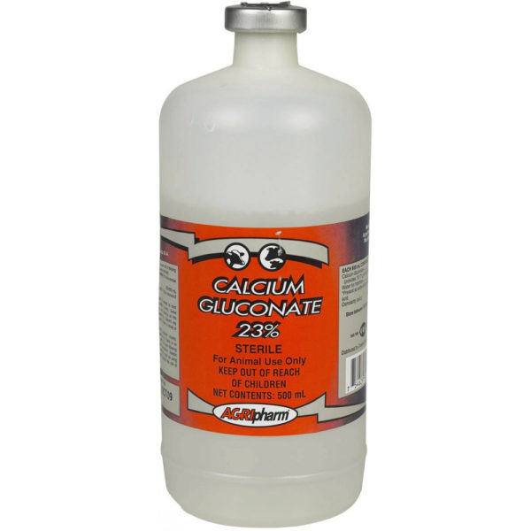 Calcium Gluconate 23% Inj. 500mL vial