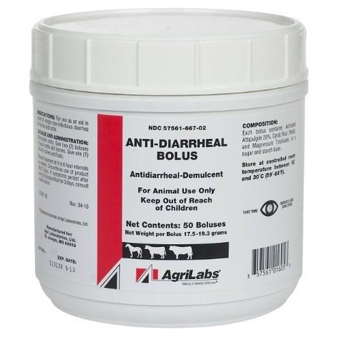 Anti-Diarrheal Cattle Bolus 50/jar